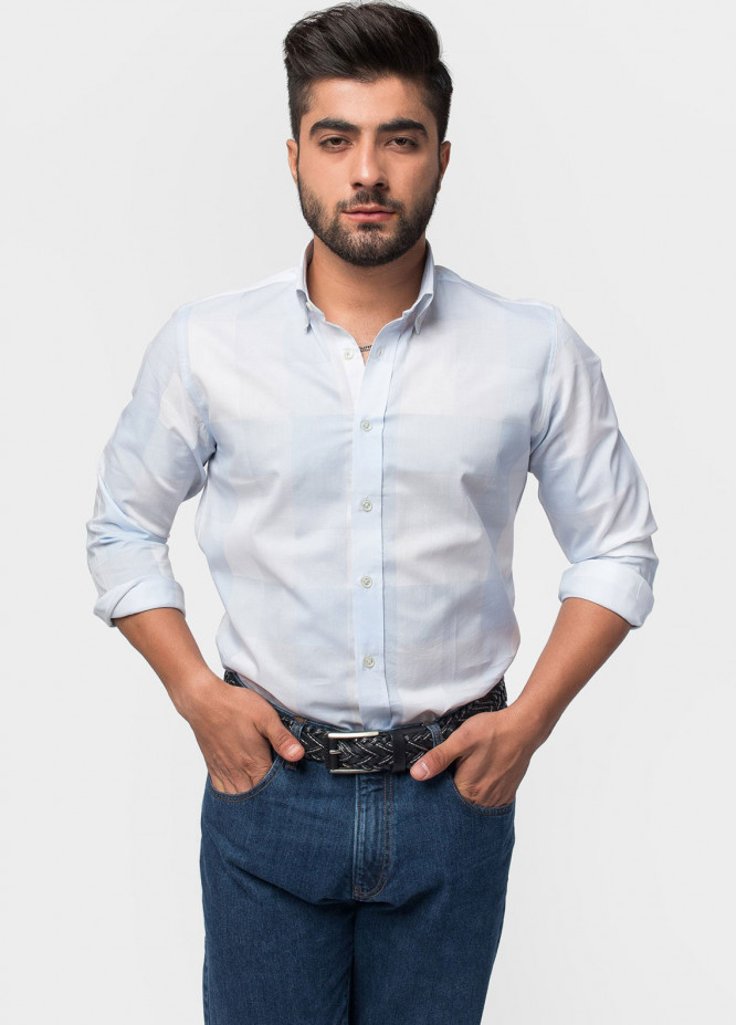 Brumano Cotton Formal Shirts for Men - Blue BRM-538
