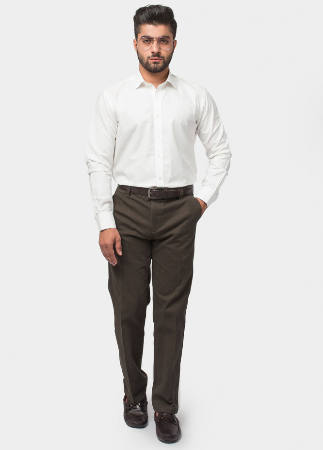 Brumano Cotton Formal Shirts for Men - White BRM-540