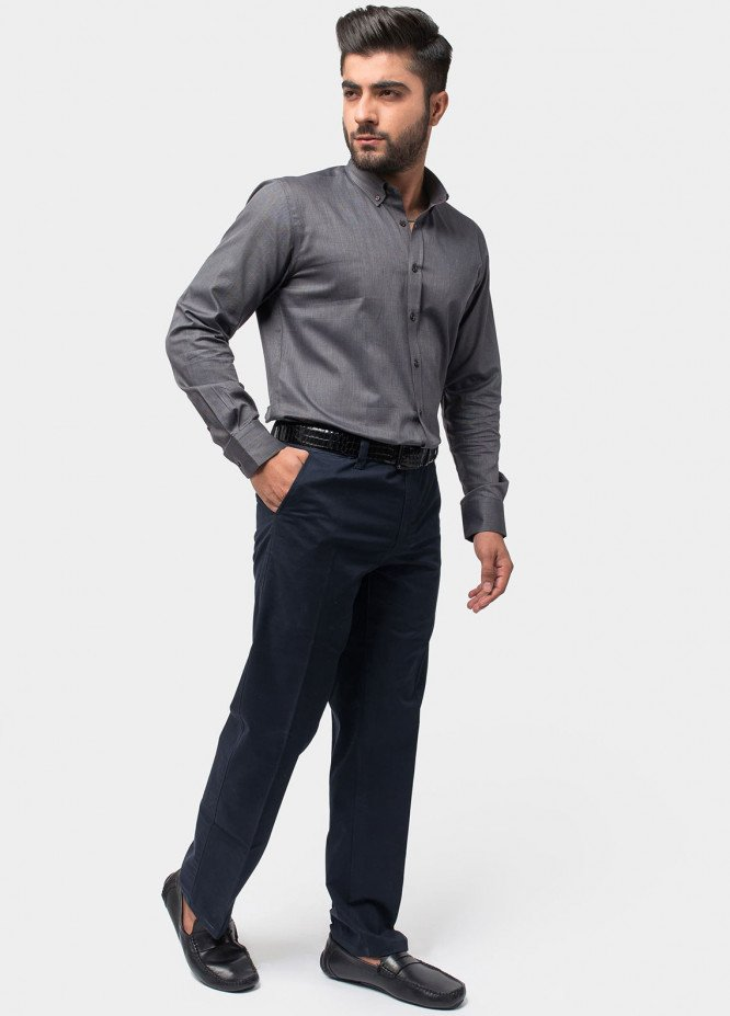 Brumano Cotton Formal Men Shirts - Grey BRM-541