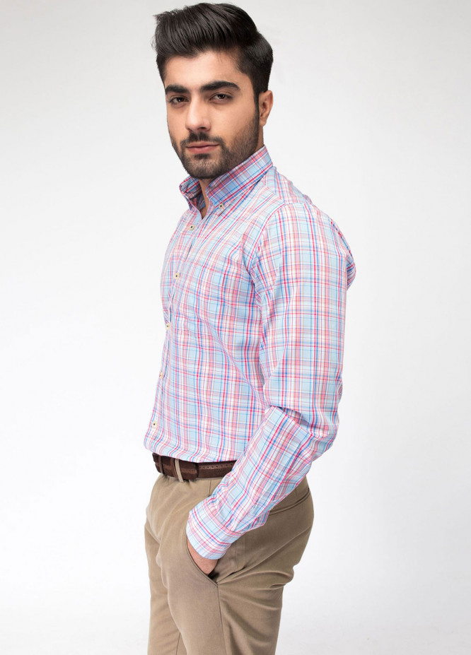 Brumano Cotton Formal Shirts for Men - Blue BRM-763