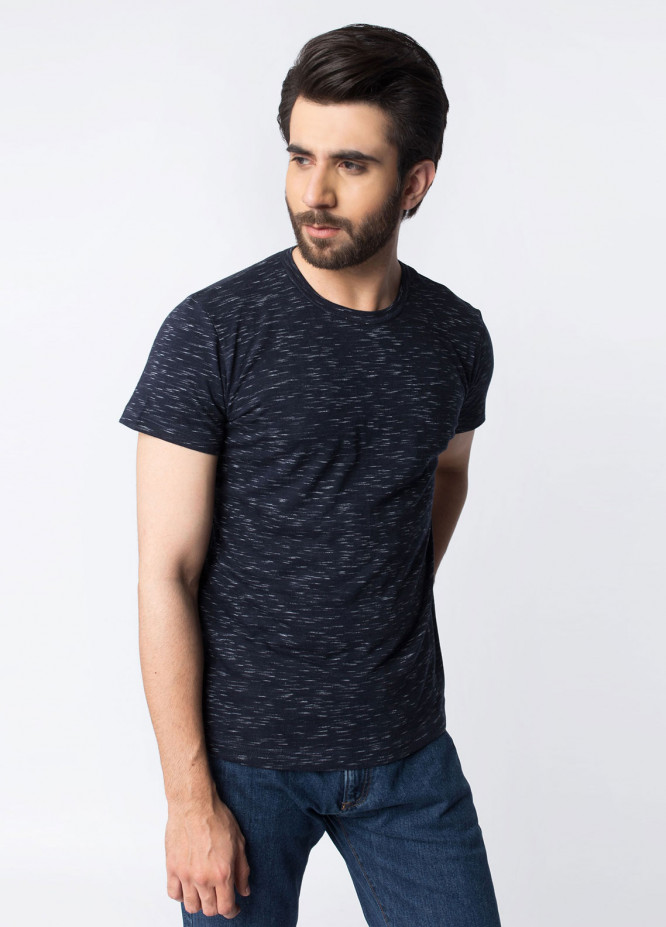 Brumano Cotton Casual T-Shirts for Men - Navy Blue BRM-42-304
