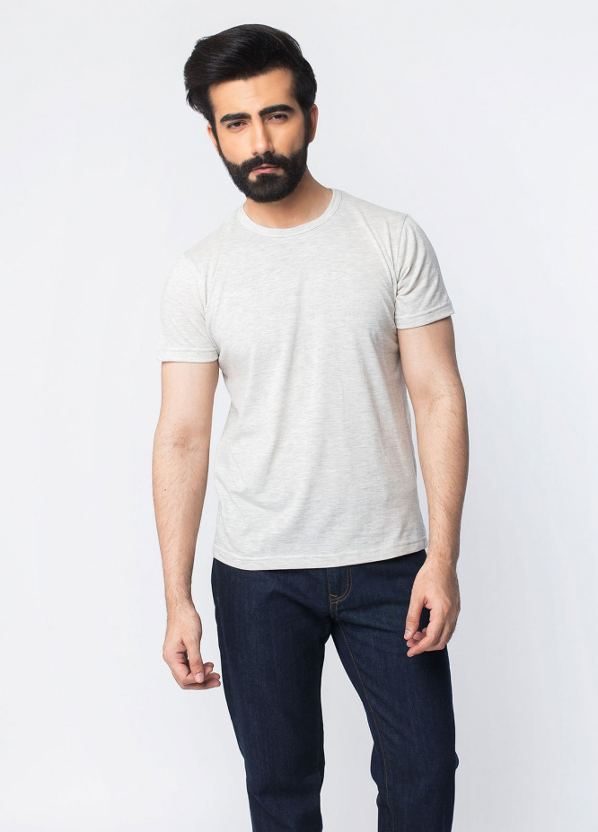 Brumano Cotton Casual T-Shirts for Men - Grey BRM-42-923