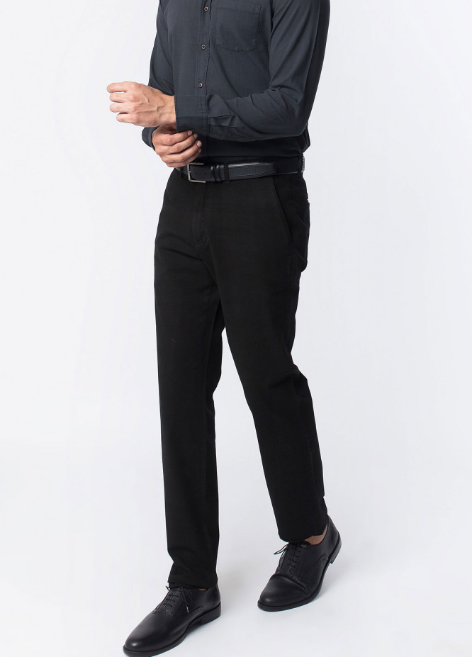 Brumano Cotton Formal Men Trousers -  BRM-50-007-Black