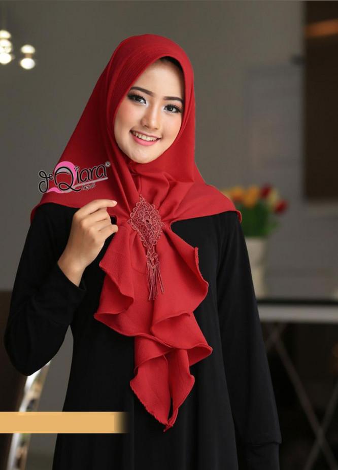 DeQiara  Bubble Pop  Ladies Scarves HH DeQiara Medina 03 Red