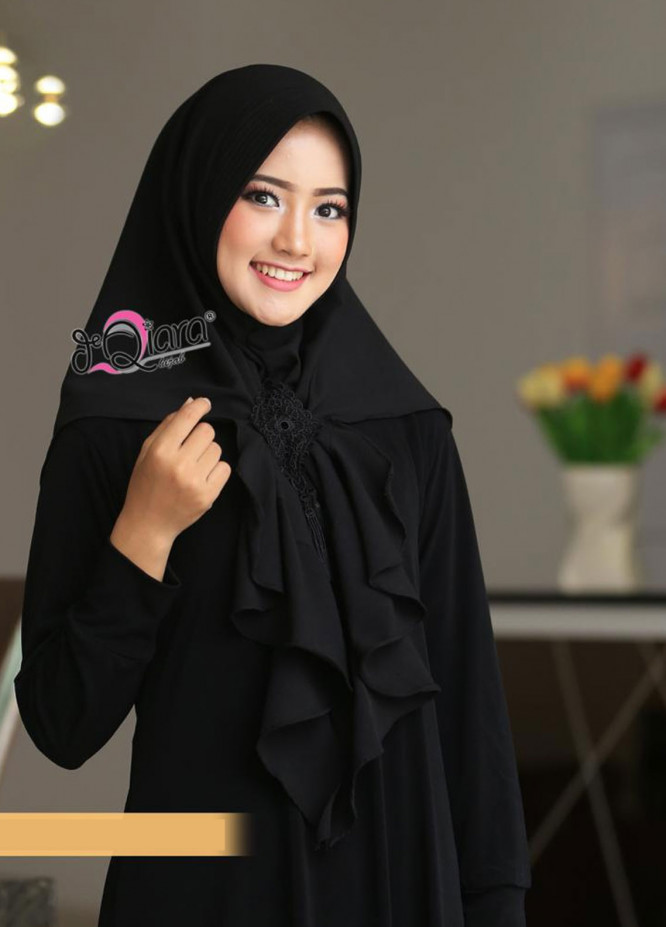DeQiara  Bubble Pop  Ladies Scarves HH DeQiara Medina 05 Black
