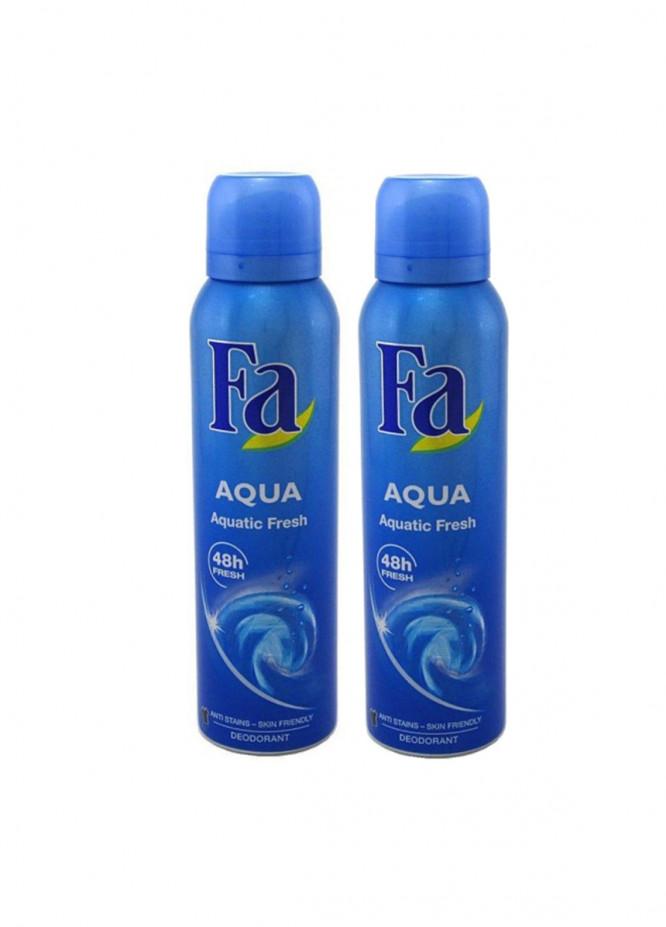 FA Fa Aqua Aquatic Fresh Pack of 2 men's body spray