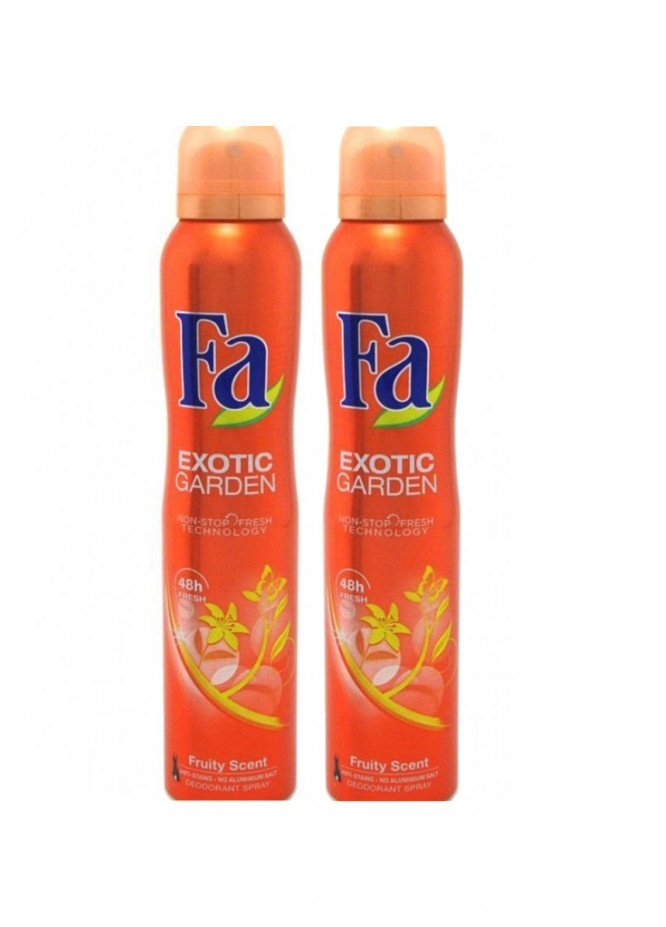 FA Fa Exotic Garden Fruity Pack of 2 men's body spray
