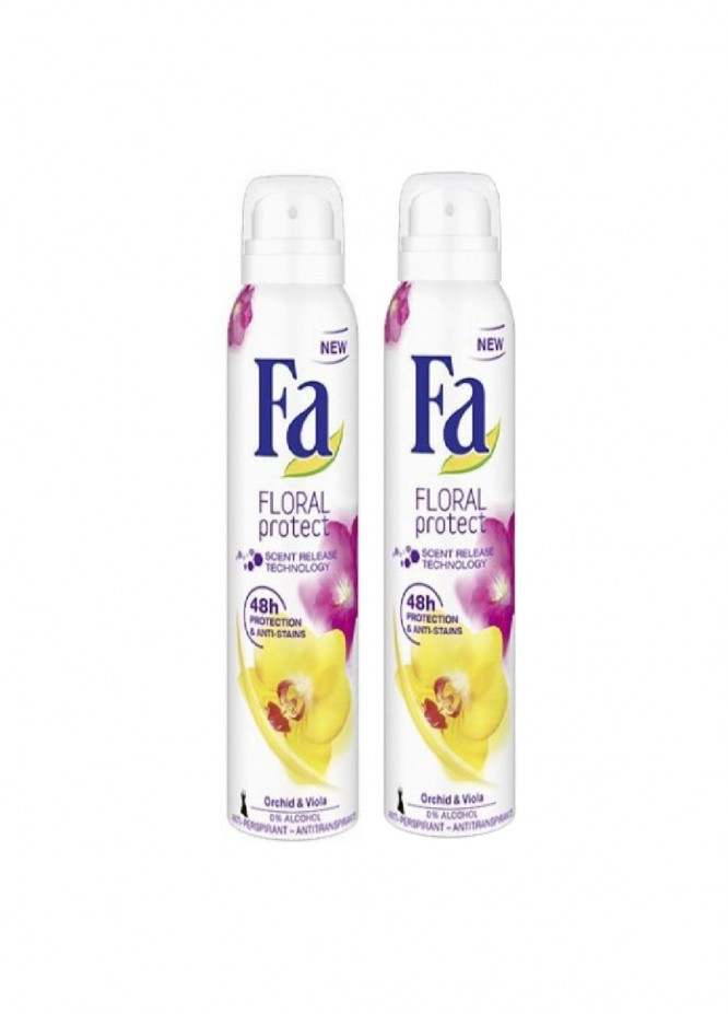 FA Fa Floral Protect 0% Alcholic Pack of 2 women's body spray