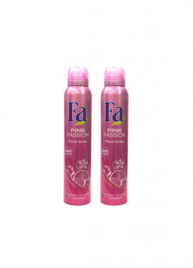 FA Fa Pink Passion Pack of 2 women's body spray