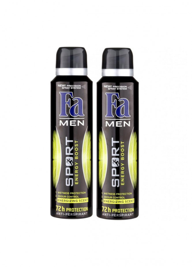 FA Fa Sport Energy Boost Pack of 2 men's body spray