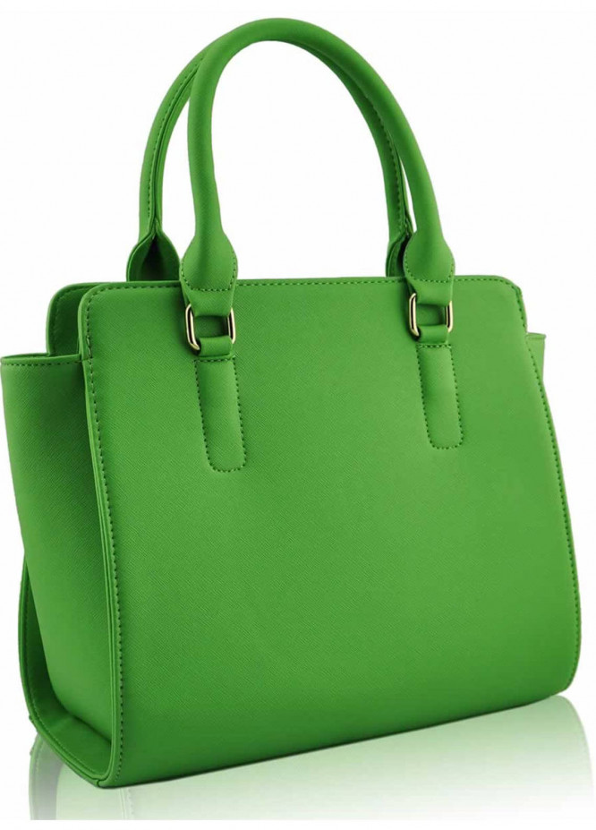 Fashion Only Faux Leather Tote  Bags for Woman - Green