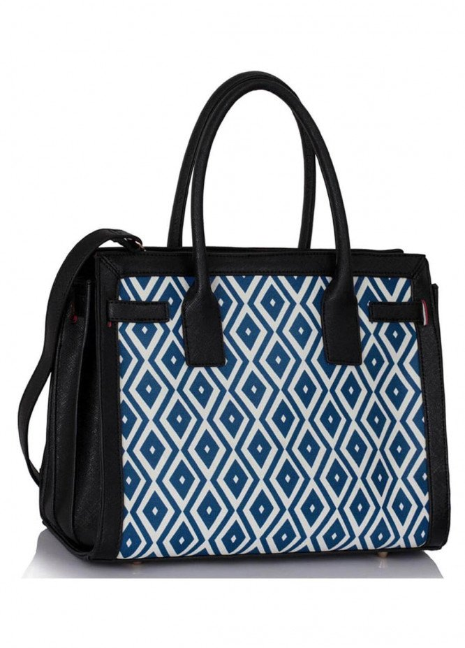 Fashion Only Faux Leather Tote  Bags for Woman - Blue