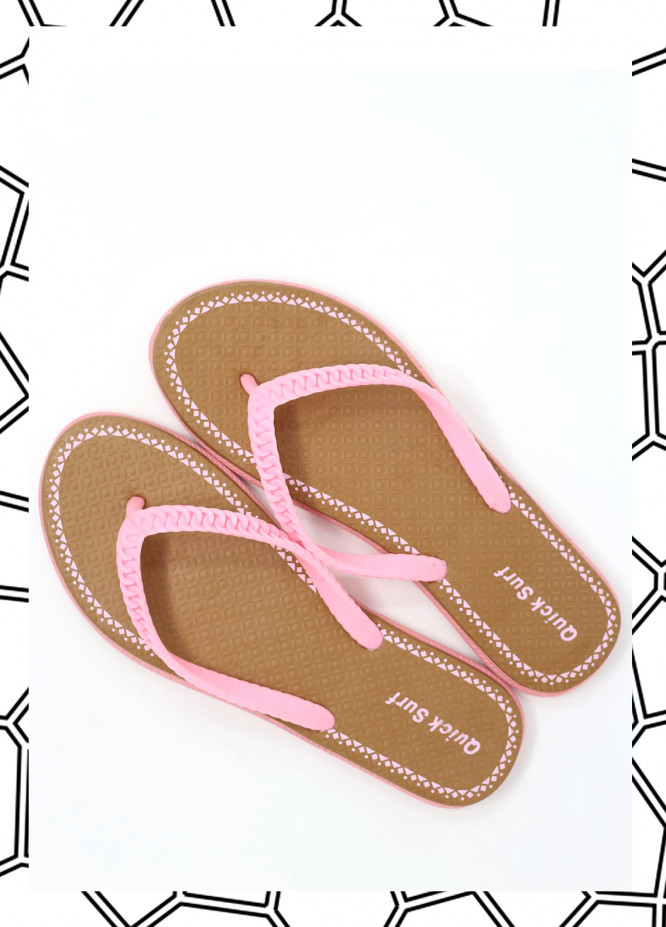 Brown Rubber Flip Flops for Ladies FF18W 03