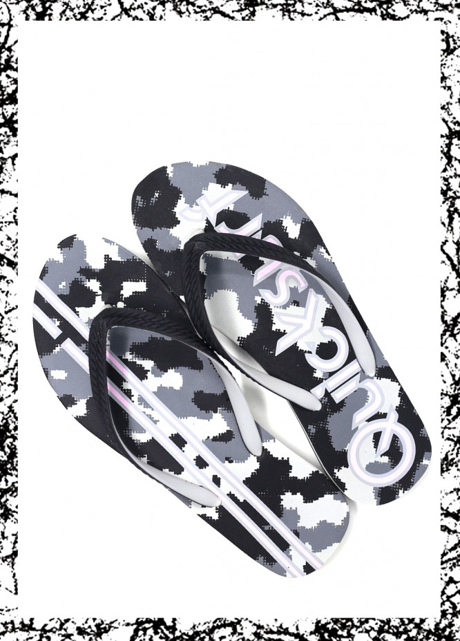 Grey Rubber Ladies Flip Flops FF18W 04
