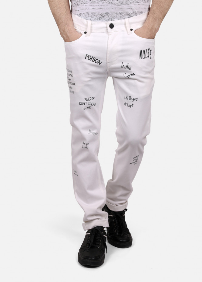 Furor Denim Casual Men Jeans - White FRM18DP 017