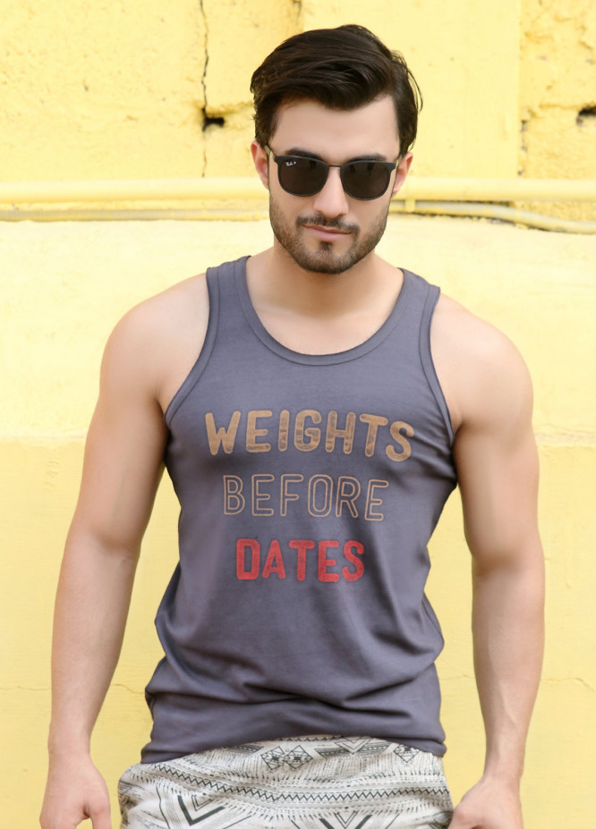 Furor  Printed Men Tank Tops - Grey FRM18TT 001