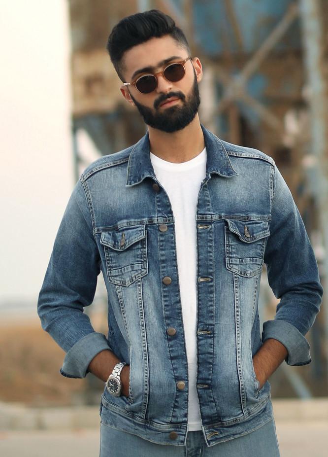 Furor Denim Casual Jackets for Men - Blue FMTJD18-014
