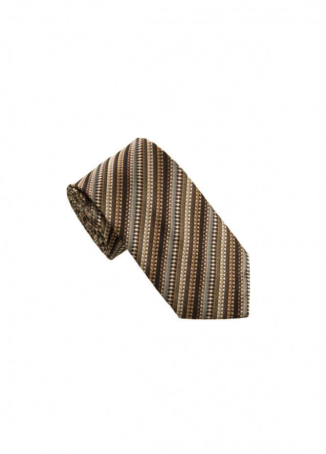 The Gentlemen's Club Brown Striped Silk Men's Ties