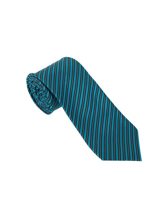 The Gentlemen's Club Sea Green Striped Silk Men's Ties