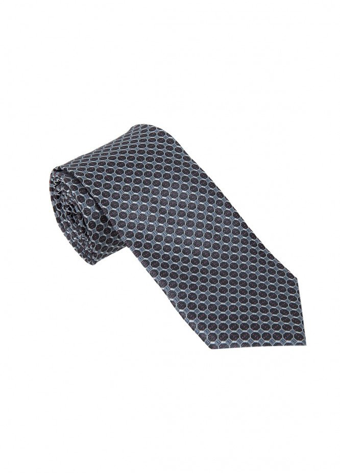 The Gentlemen's Club Grey Polka Dotted Silk Men's Ties