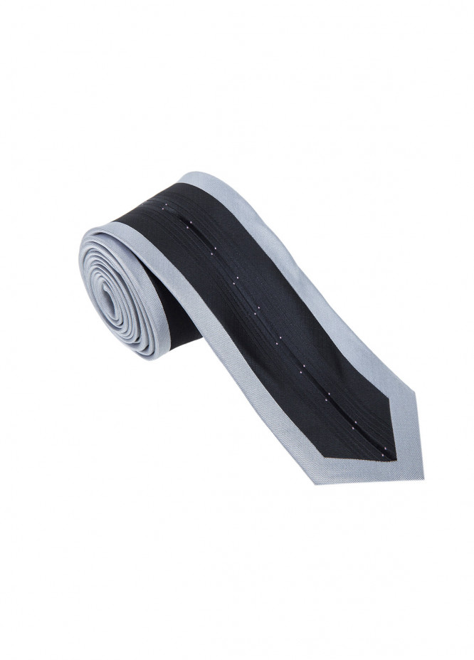 The Gentlemen's Club Grey Striped Silk Men's Ties