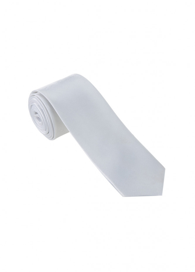 The Gentlemen's Club White Plain Silk Men's Ties