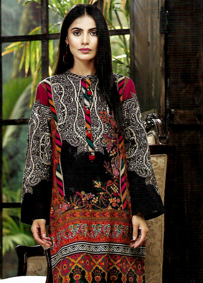 LimeLight Printed Cotton Unstitched Kurties LL18-W3 274 Black - Winter Collection