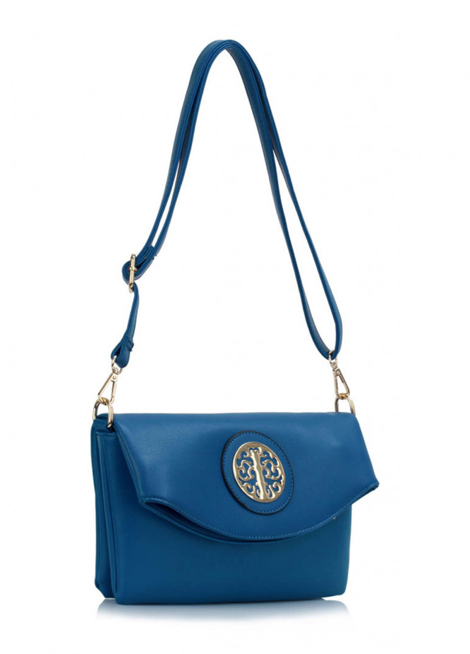 Leesun London Faux Leather Cross Body Bags for Women Blue