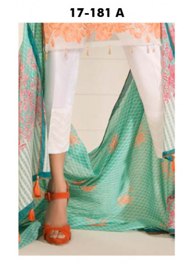 Orient Textile Embroidered Lawn Unstitched Trouser OP17E 181A