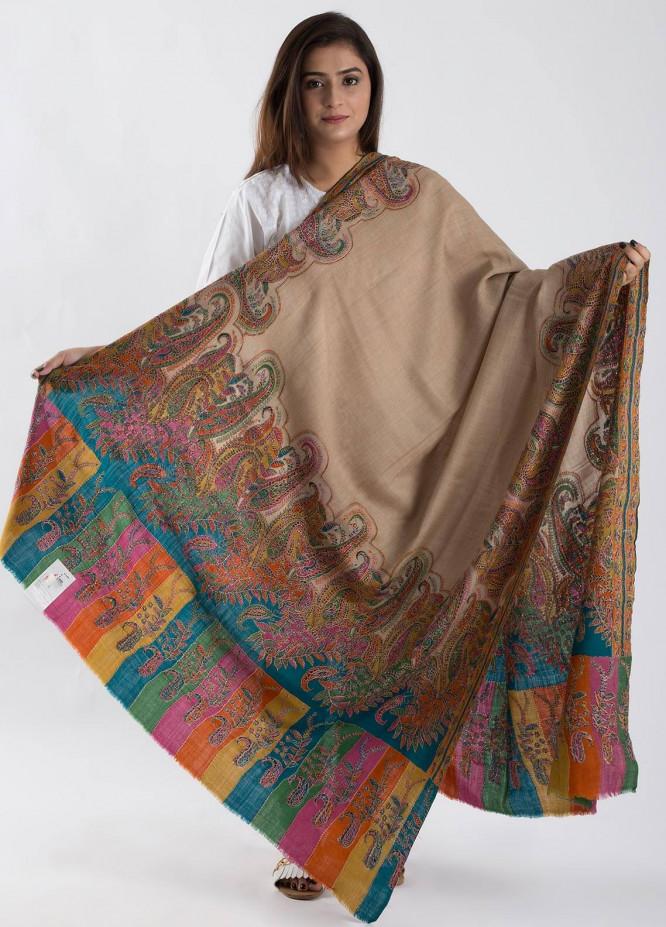 Sanaulla Exclusive Range Textured Pashmina  Shawl 80 - Kashmiri Shawls