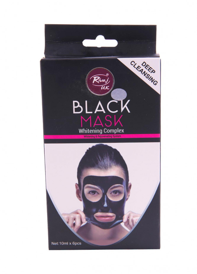 Rivaj UK Whitening Complex Black Mask - 6 Sachet - 10 ml