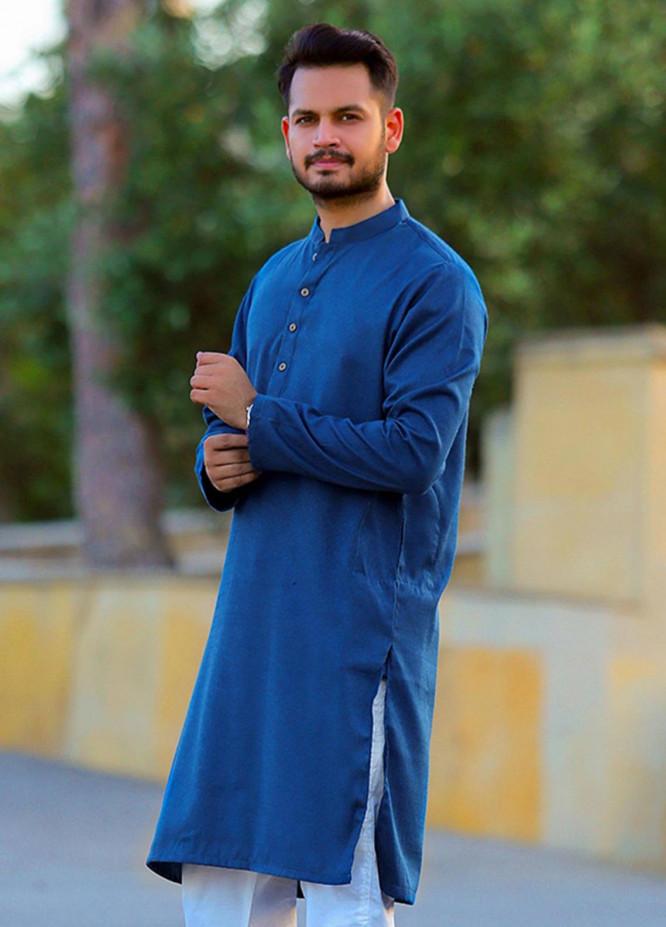 Red Tree Cotton Casual Kurtas for Men - Blue RTM18KS 4263