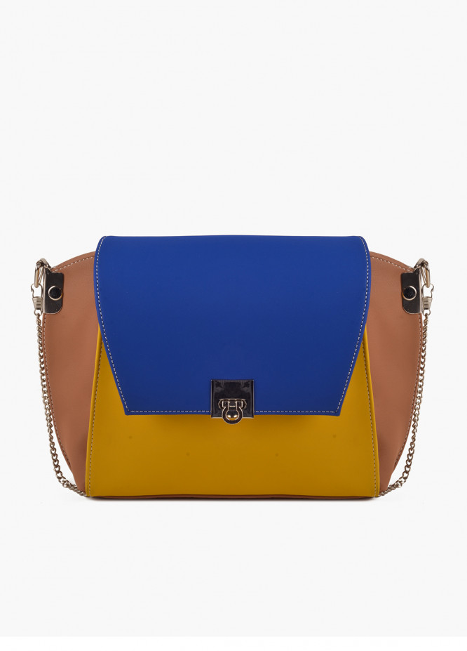 RTW Creation Faux Leather Clutches for Women - Blue with Plain Texture