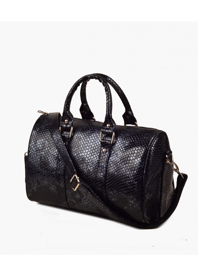 RTW Creation Faux Leather Handbags for Women - Grey with Crocodile Texture