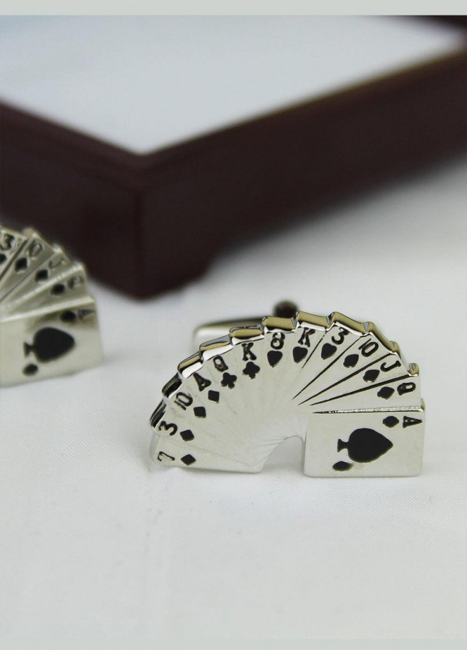 Shahzeb Saeed Fancy Steel  Cufflinks 12 Cards - Casual Accessories