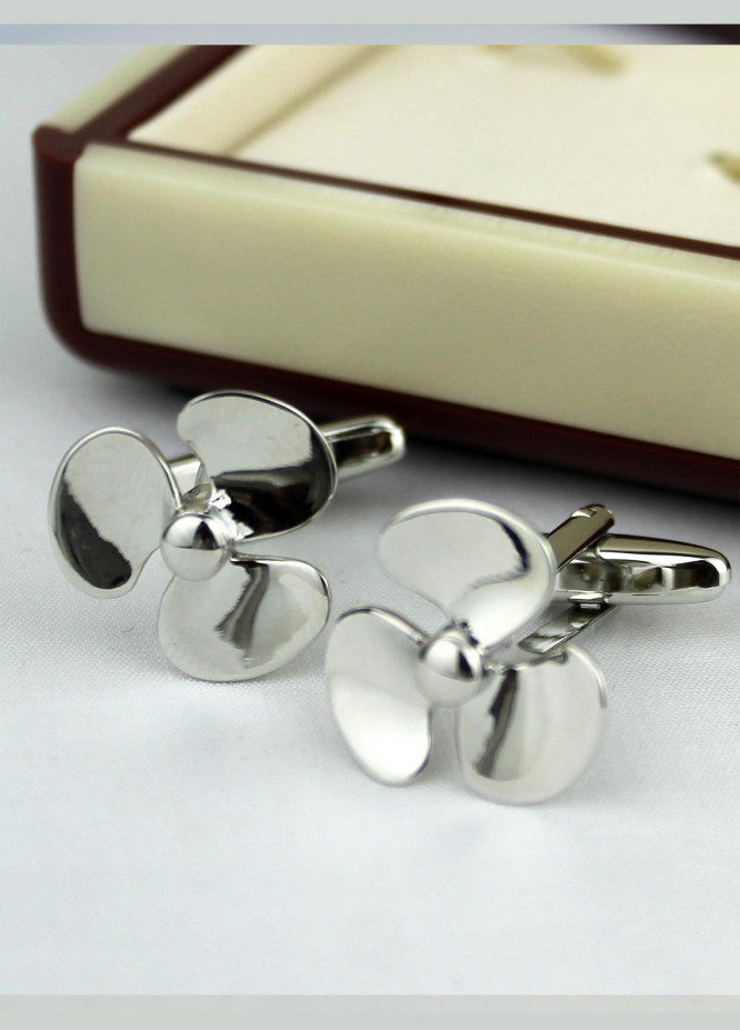 Shahzeb Saeed Fancy Steel  Cufflinks Propellar - Casual Accessories