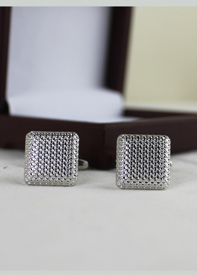 Shahzeb Saeed Fancy Steel  Cufflinks Silver metal 2 - Casual Accessories