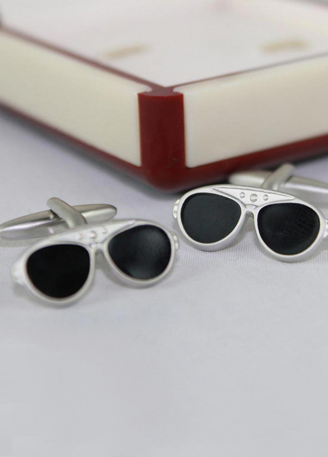 Shahzeb Saeed Fancy Steel  Cufflinks Sun Glasses - Casual Accessories