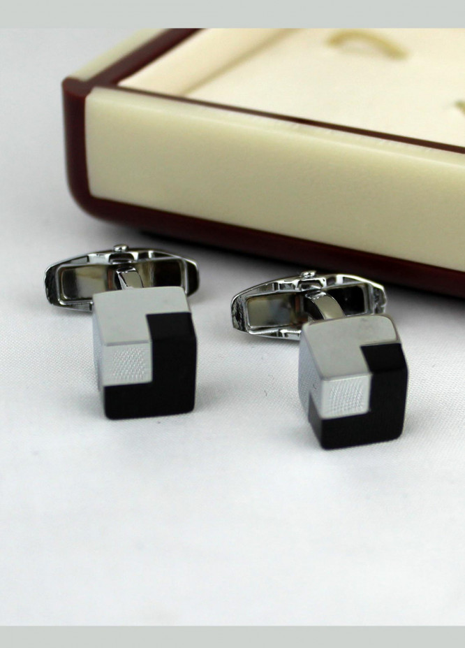Shahzeb Saeed Fancy Steel  Cufflinks Thor Hammer Black - Casual Accessories