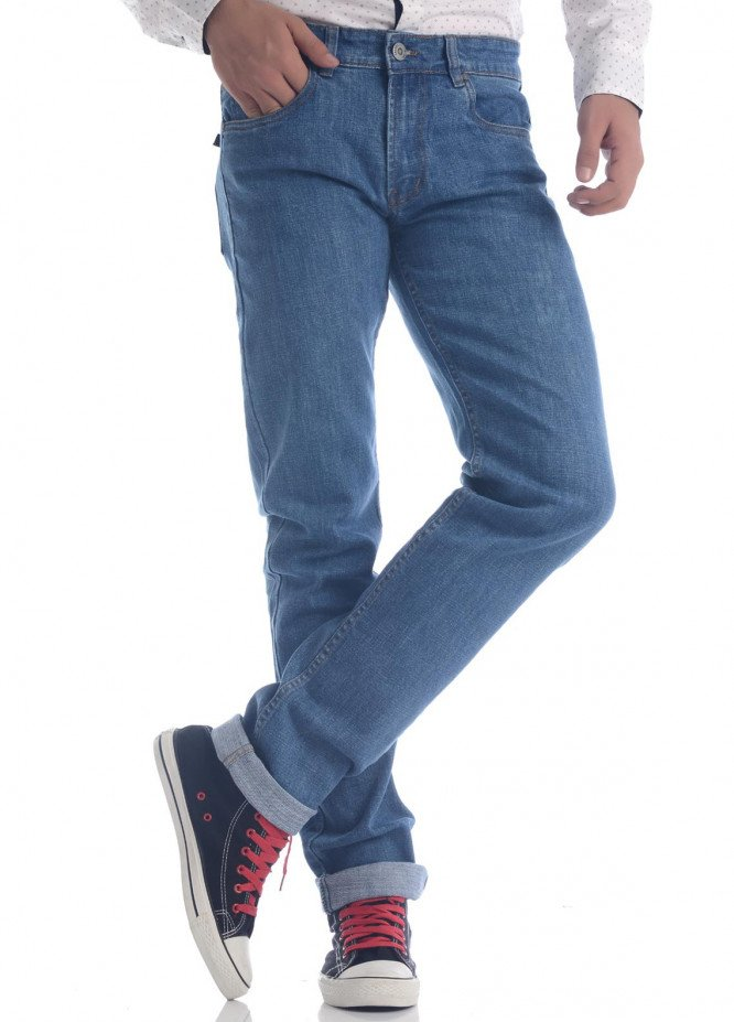 Shahzeb Saeed Denim Casual Jeans for Men - Blue DNM-90