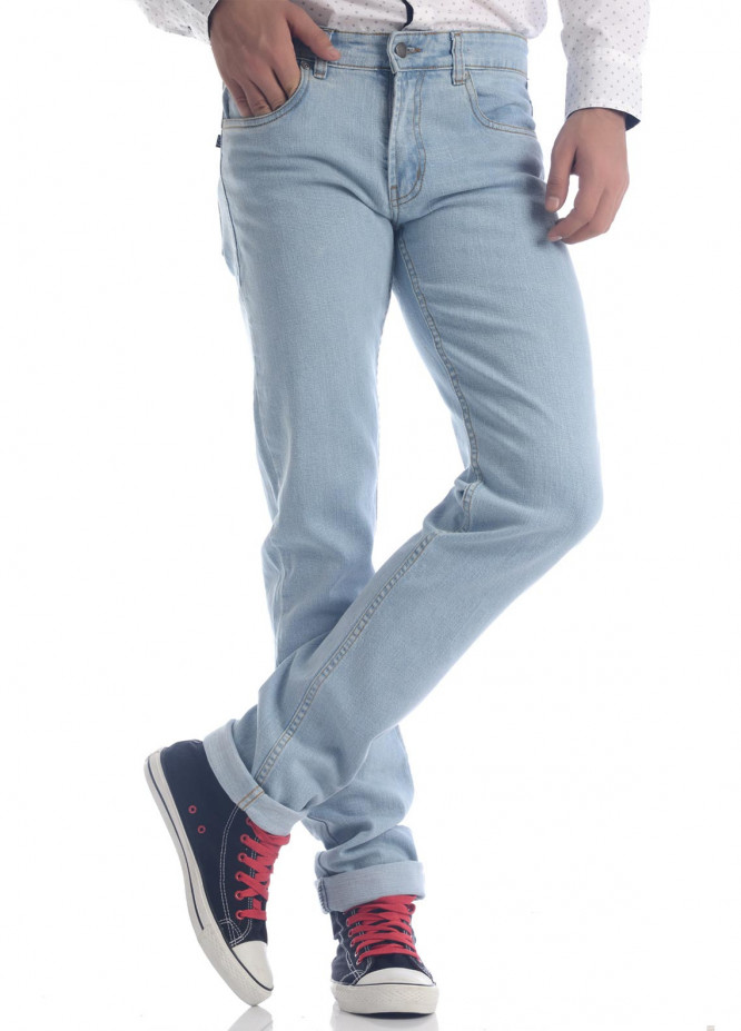 Shahzeb Saeed Denim Casual Men Jeans - Sky Blue DNM-91