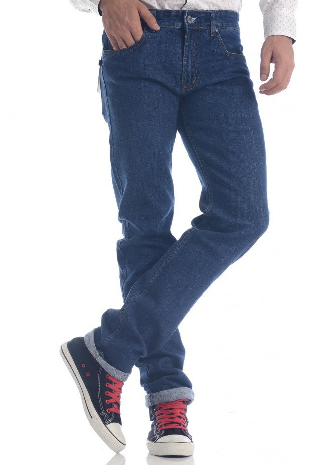 Shahzeb Saeed Denim Casual Men Jeans - Blue DNM-93