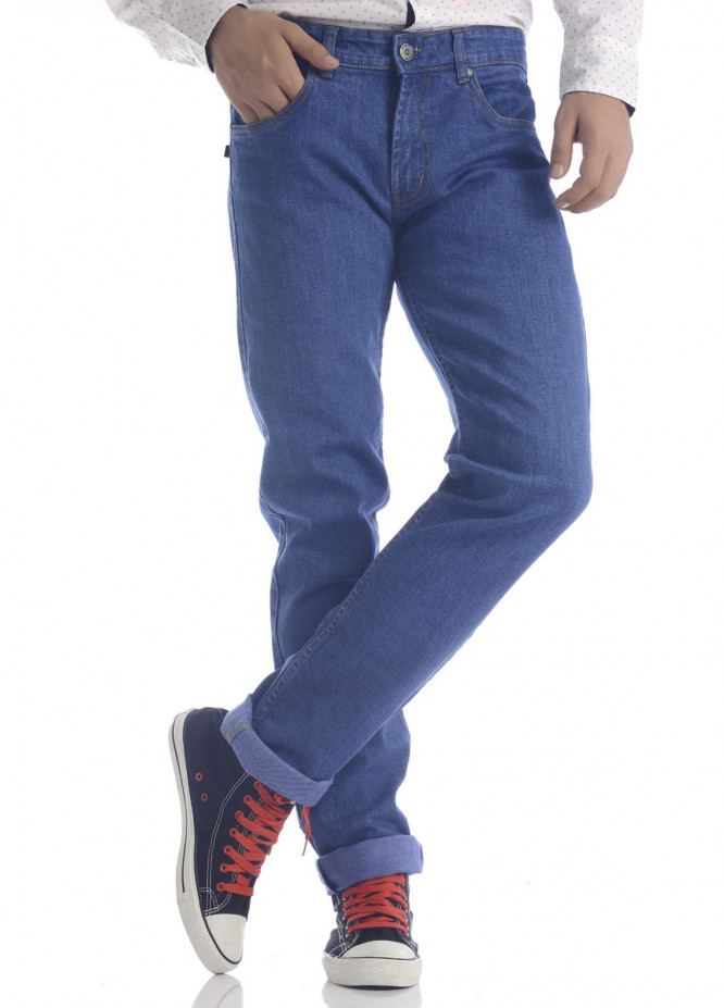 Shahzeb Saeed Denim Casual Jeans for Men - Royal Blue DNM-94