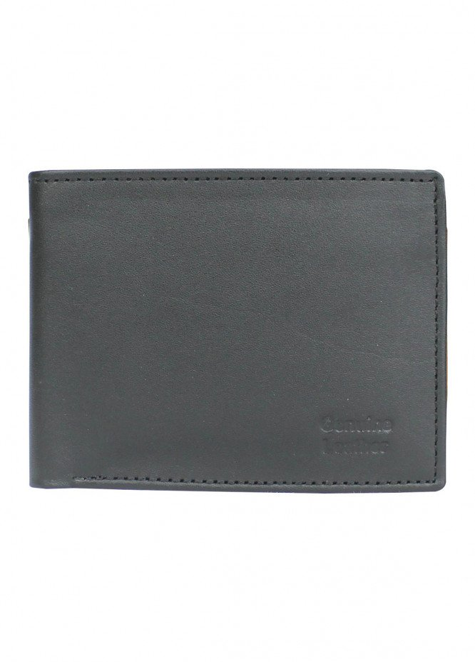 Shahzeb Saeed Plain Texture Leather  Wallet W-061 - Men's Accessories