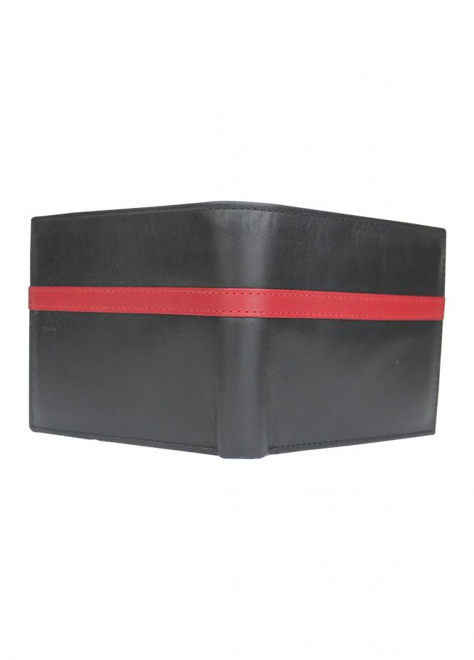 Shahzeb Saeed Plain Texture Leather  Wallet W-078 - Men's Accessories
