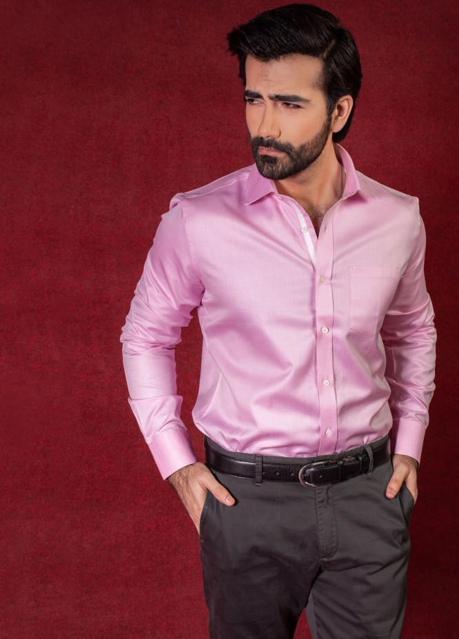 Brumano Cotton Formal Shirts for Men - Pink BRM-441