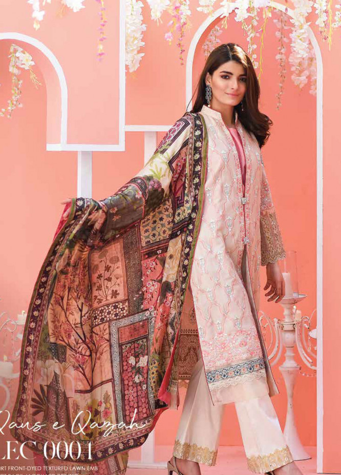 Lakhany Embroidered Lawn Unstitched 3 Piece Suit LSM19L LEC0004 - Spring / Summer Collection