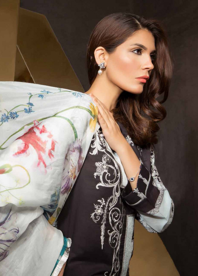 Mahgul by Al Zohaib Embroidered Lawn Unstitched 3 Piece Suit MG18E 7B - Eid Collection