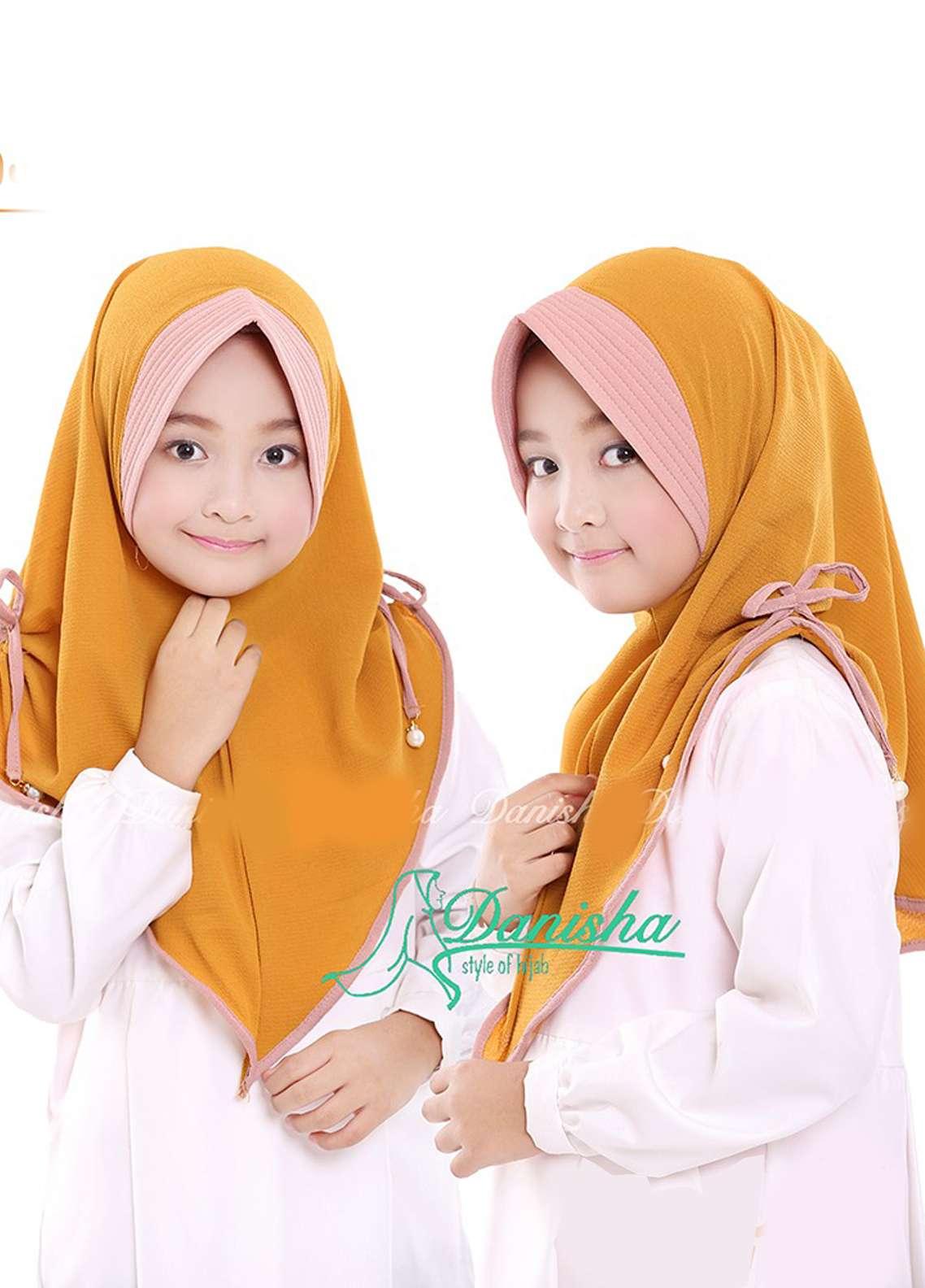Danisha | Style of Hijab  Bubble Pop  Girls Scarves HH Danisha 06 Mustard
