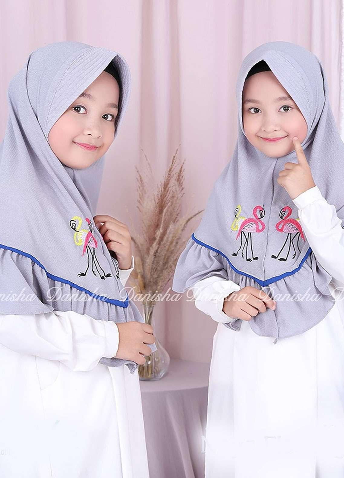 Danisha | Style of Hijab  Bubble Pop  Girls Scarves HH Danisha Flamingo 07 Grey